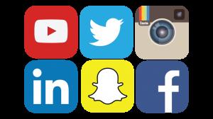 Grid of social media icons