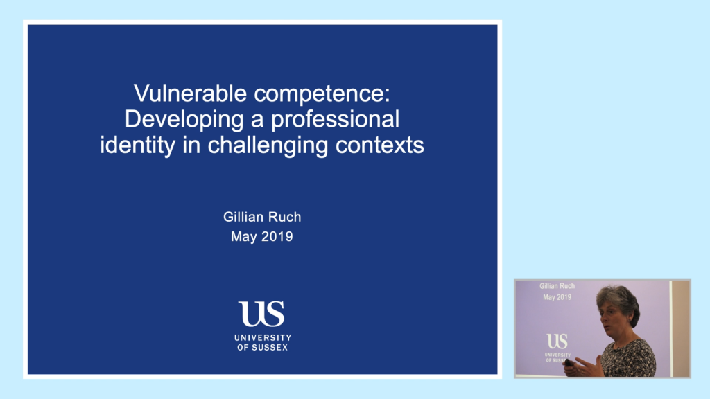 Gillian Ruch from the University of Sussex gives a talk at the Step Up To Social Work Conference 2019